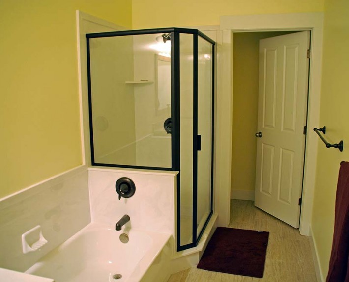 picture of an affordable basement bathroom finish