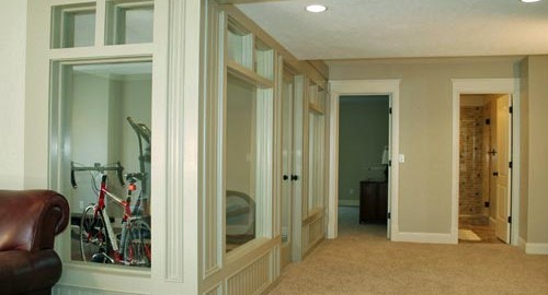 photo of a great basement paint job
